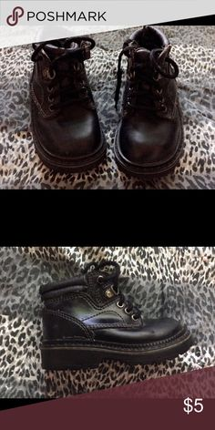 Unisex black boots Unisex black hiking boots, good for outside fun , tie ups T k s Shoes Boots