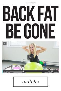 Get rid of your pesky back fat with this fun workout!