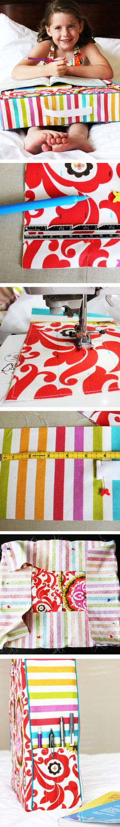 Love, love, love this project from @Amy Bell {Positively Splendid}! Craft your own study pillow with her awesome free tutorial! #creativitymadesimple #cre8simple