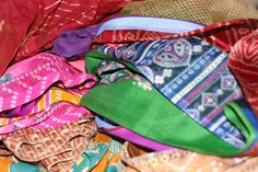 1/2 pound of Reclaimed Sari Fabric Scraps from DGY