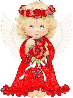 Ange, illustration de Ruth Morehead, que j'ai retravaillé afin d'en obtenir… Angel Illustration, Christmas Illustration, Cute Illustration, Angel Images, Angel Pictures, Cute Pictures, Christmas Angels, Christmas Art, Xmas