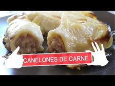 CANELONES DE CARNE - YouTube Bechamel, Carne Picada, Spanish Food, Pasta, Chicken, Meat, Youtube, Recipes, Breast