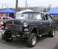 1955 Chevrolet Unknown Gasser by 2Loose http://www.chevybuilds.net/1955-chevrolet-unknown-gasser-build-by-2loose