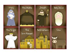 Silent Night Christmas Memory Game!  When you make a match, you read the story card that goes with the picture.  Would be great for Primary Class or Sharing time