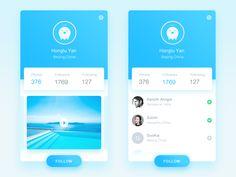 50 User profile page — Design Inspiration | by Muzli | Muzli - Design Inspiration Profile App, Profile Website, Web Design, Page Design, Graphic Design, Motion App, Apps, Mobile Ui Design, User Interface Design