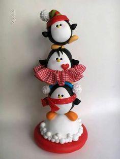 Tótem de pingüinos