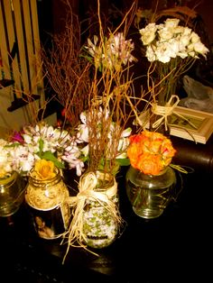 Flower arrangements that we did