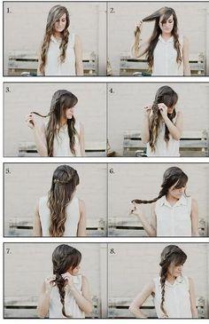 Tuto coiffure en tresse facile