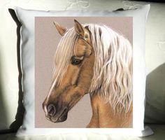 Berber PFERD Kissenbezug 40x40 cm von Arts & Dogs by Nicole Zeug auf DaWanda.com