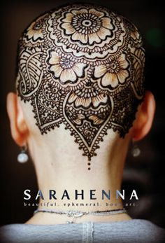 Henna for Healing  SARAHENNA offers henna crowns free of charge. Henna has received some press recently as an adornment for the scalp. Many women who experienced hair loss after chemotherapy sought an alternative to wigs and hats - especially in the summer months. Henna is beautiful and unique, and I believe it can also be empowering. (more crowns farther down on board.)