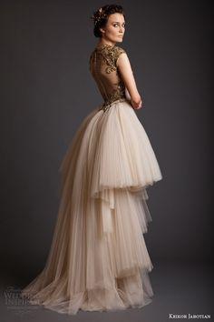 krikor jabotian akhtamar collection spring 2014 cap sleeve #couture #wedding dress back view #weddings #weddingdress http://weddinginspirasi.com/2014/07/03/krikor-jabotian-spring-2014-dresses-akhtamar-couture-collection/