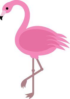 Elegant Pink Flamingo Clip Art