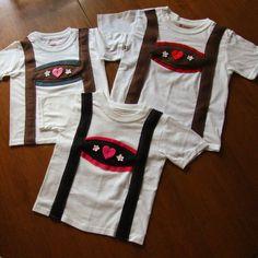 Child and Toddler Lederhosen T-shirt