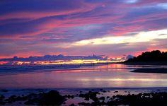 Purple sunset in Uvita