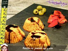Pastelitos cremosos de pimiento rojo y atún, aptos también para la dieta Dukan