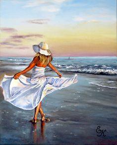 Ship Paintings, Amazing Paintings, Indian Paintings, Simple Acrylic Paintings, Acrylic Painting Tutorials, Acrylic Art, Painting People, Figure Painting, Princess Jasmine Art