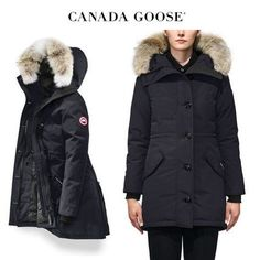 CANADA GOOSE ダウンジャケット・コート CANADA GOOSE Rossclair Parka Fusion Fit お上品なネイビー Canada Goose Women, Canada Goose Jackets, Parka, Winter Jackets, Fitness, Fashion, Winter Coats, Moda, Winter Vest Outfits