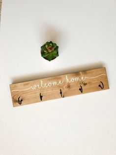 diy key holder Welcome Home Rustic Wooden Key Hanger for Wall, Wooden Key Holder for wall, Hooks, Farmhouse Wooden Key Holder, Distressed Key Hanger Key Hanger For Wall, Wall Key Holder, Key Holders, Diy Key Holder, Wall Hooks, Diy Crafts Key Holder, Wooden Key Holder, Key Hooks, Key Hook Diy