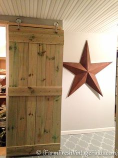 How to Build AND HANG a Barn Door....for Around 20 Bucks! - Farm Fresh Vintage Finds