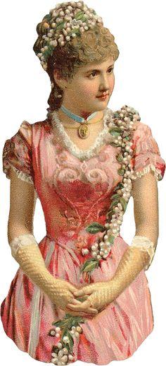 Wings of Whimsy: Victorian Scraps - Glove Lady 1 #vintage #ephemera #printable #freebie #scrap