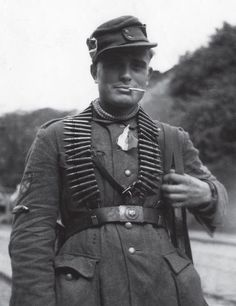 Russian volunteer in the German army. Anti-communist volunteers formed various units under German officers and fought the Red Army throughout the war. Those who were captured either met an early death in the hands of the Soviet security services or were sent to the Siberian Gulag from where few returned.