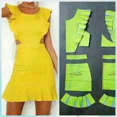 18 New Ideas For Sewing Simple Dresses Patrones Source by nnewtonfamily dresses idea Fashion Sewing, Diy Fashion, Ideias Fashion, Dress Sewing Patterns, Clothing Patterns, Sewing Clothes, Diy Clothes, Simple Short Dresses, Costura Fashion