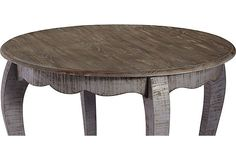 Lissie Dining Table | Easy Updates | One Kings Lane This round table is rustic with a touch of polish, finished in a cool, distressed charcoal. Perfect for the Kitchen