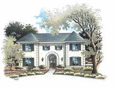 Eplans French Country House Plan - Four Bedroom Norman - 2599 Square Feet and 4 Bedrooms from Eplans - House Plan Code HWEPL07804