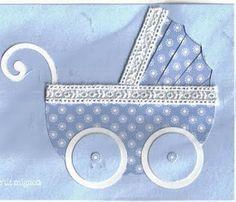 Passion scrapbooking: Petit landeau Iris folding baby card