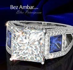 Blue Principessa Ring by Bez Ambar with Blaze® cut diamonds #diamondjewelry #blazecutdiamonds  www.bezambar.com