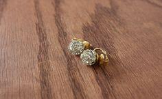 Vintage Crystal Ball Clip-On Earrings