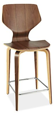 Exclusive to Room & Board, our Pikestool strikes a balance between function and style. The molded plywood seat features a special design that offers comfortable support for lingering conversations. Molded and tapered wood legs lend a natural, modern look.