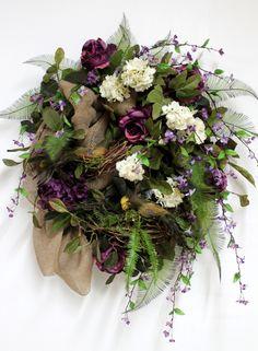 Mother's Day Gift, Front Door Wreath, Everyday Wreath, Spring Wreath, Honeysuckle, Summer Wreath, Country Decor