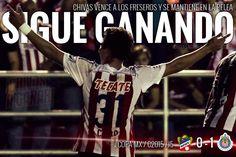FRESEROS 0-1 CHIVAS    LÍDER DE GRUPO     En el encuentro de ida de la llave tres del grupo cuatro, con un gol solitario de Erick 'Cubo' Torres al minuto 80, Chivas de Guadalajara venció 1-0 como visitante a Irapuato, con lo que se hizo del liderato de su grupo en la Copa MX.