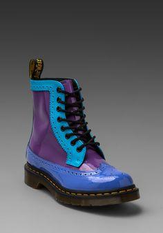 Dr. Martens Harrie Brouge Boot in Purple/Blue Multi