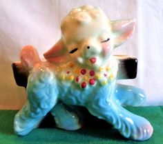 This precious little lamb planter is in e xceptional condition and was produced in the 1950's. Never used as a planter, was display only. r display during theEaster Season or Better Yet.Perfect for a Baby shower gift! | eBay!