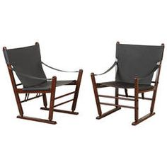 Pair of Scandinavian Campaign Chairs