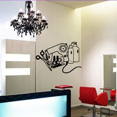 Wall Decal Vinyl Art Decor Hairdressing Hair Salon Beauty Barber Shop Scissors Hairdryer Lacquer Nails (M1105) DecorWallDecals http://www.amazon.com/dp/B00KAAQ982/ref=cm_sw_r_pi_dp_fHV2ub06B9H12