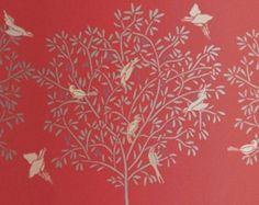 Tree Wall Stencil - OLIVE TREE 5 Feet Tall - Reusable - DIY Home Decor Wall Stencils