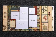 use simple stories cards as page embellishments  Lots of layout ideas on this site