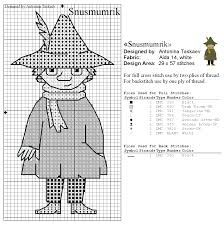 Bilderesultat for moomin cross stitch pattern