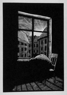"Otto Nückel (German, 1888-1955). Image from the book ""Destiny, A Novel in Pictures,"" 1930. (wood engraving)"