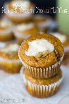 Pumpkin Cream Cheese Muffins - a Starbucks copycat!   crazyforcrust.com
