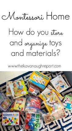 How do you store and organize Montessori toys and materials? A behind the scenes look at how we store toys that are out of rotation. Budget friendly solutions to keep toy clutter under control.