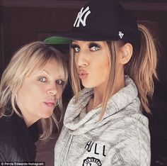 Just the two of us: Perrie Edwards shared Instagram selfies with her mum Debbie on Monday ...