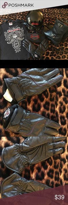Genuine Harley Davidson Women's Leather Gloves Like New Harley Davidson women's gloves. Xtra small size. Excellent condition. Only worn once. From my daughters closet. Harley-Davidson Accessories Gloves & Mittens