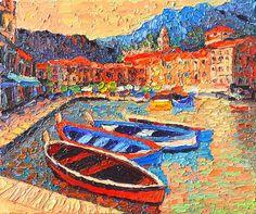 """""""Portofino - Colorful Boats And Reflections In Dawn Light - Italy Liguria Riviera"""" by Ana Maria Edulescu  on fineartamerica.com"""
