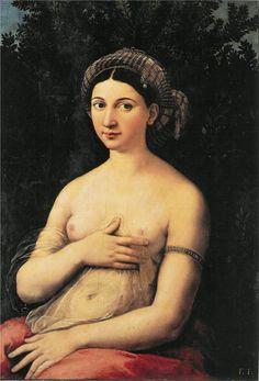 Raffaello (1483-1520, Italy) | la Fornarina, 1518-20 - ROMA Palazzo Barberini