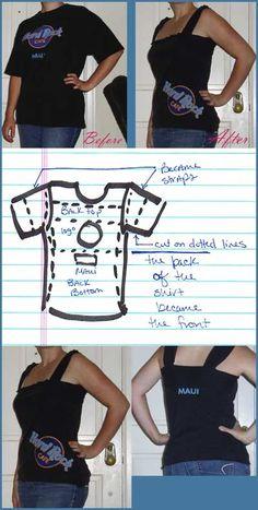 http://clothingcult.com/2008/08/16/diy-t-shirt-refashion-hard-rock-cafe-maui/