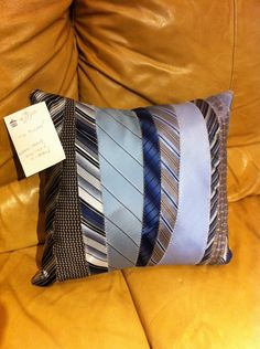I spotted this men's tie pillow at Housing Works Thrift Shop while I was walking…